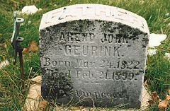Grave of Arend Jan Geurink.