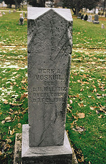 Grave of Derk A. Voskuil in Sheboygan, WI.