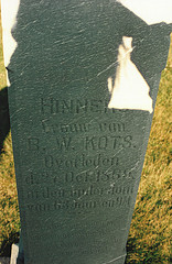 Grave of Hinners Lammers.