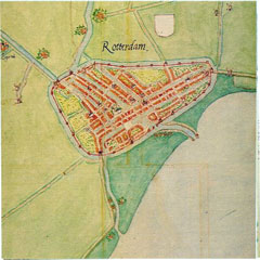 Rotterdam, by Jacob van Deventer, circa 1565