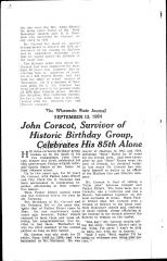 John Corscot, survivor of historic birthday group, celebrates his 85th alone